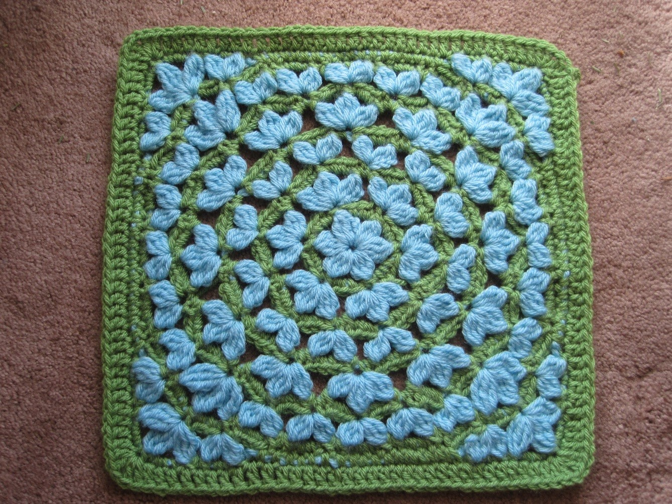 Week 1 - Afghan Block CAL 2015 - Floral Fantasy and Crochet Clusters ...